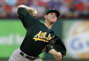 Jarrod Parker pitches 7 scoreless innings, and the A's beat the Rangers 6-2.