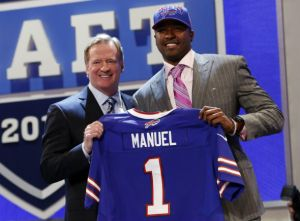 E.J. Manuel was the only QB selected in the 1st round of the NFL Draft, but is it enough to help the Bills make a turnaround?