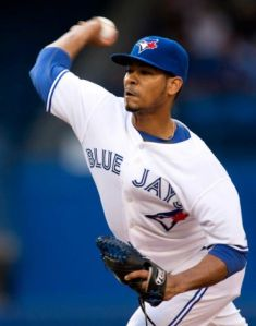 Esmil Rogers had a no-hitter going into the 6th, and the Blue Jays win their 7th straight.