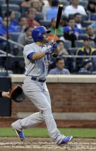 David DeJesus triple in 3 runs in the 2nd inning, as the Cubs beat the Mets 6-3