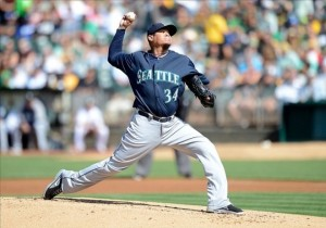 King felix continues his dominance, pitching 7 scoreless as the Mariners beat the A's 4-0.