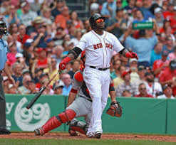 Ortiz has been doing a lot of admiring lately, here launching his 13th homer to give the Sox a 4-1 advantage.