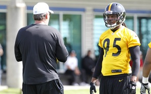 The Steelers are hoping that 1st round selection, Jarvis Jones can bring the same intesnsity that James Harrison had for so many years.