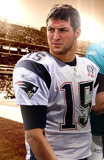 What Tim Tebow may look like in a Patriots uniform. Possibilty of a number change Ryan Mallet wears #15